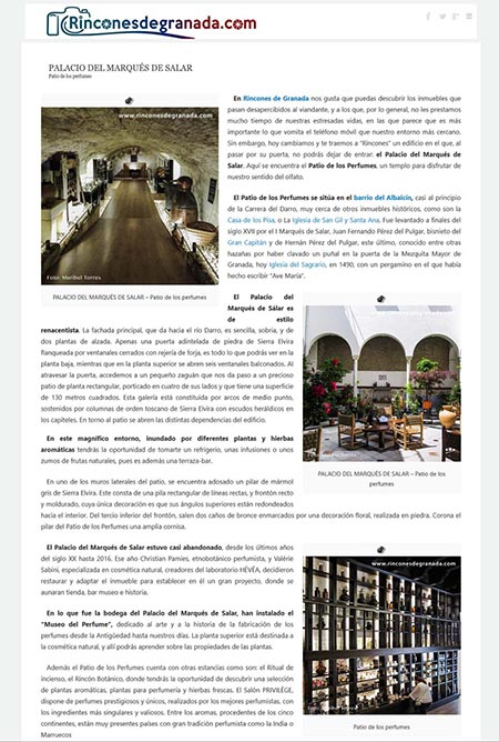 Article online published by rinconesdegranada.com, 26th September 2018
