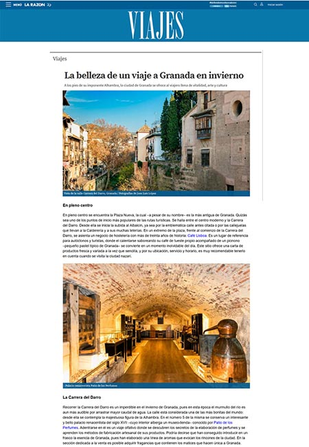 Article online published by larazon.es, 19th December 2018